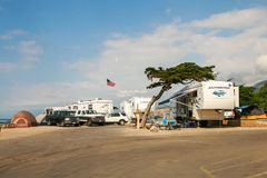 Faria海滩状态Park_Ventura, CA_USA 免版税库存图片