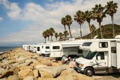 Faria海滩状态Park_Ventura, CA_USA 免版税库存照片