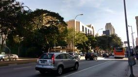 Faria Lima Avenue stock image