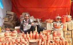 FARIDABAD HARYANA, INDIA, LUTY,/- 16 2018: Handmade Earthenw obraz royalty free