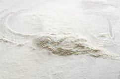 Farina bianca come fondo Immagini Stock Libere da Diritti