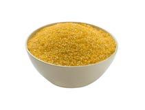 Farina del mais - il glutine libera, isolato Fotografie Stock Libere da Diritti