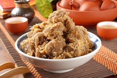 Farina di fave secca della soia Fotografia Stock
