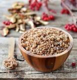 Farina di grano saraceno Fotografie Stock