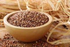 Farina di grano saraceno asciutta Fotografie Stock Libere da Diritti
