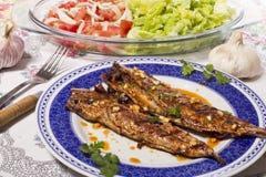 Farina di pesci cotta Wahoo Fotografie Stock Libere da Diritti