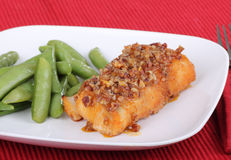 Farina di pesci fritta fotografie stock libere da diritti