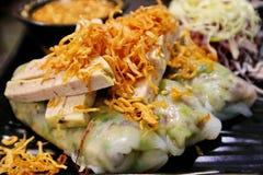 Farina di riso Rolls - alimento vietnamita immagini stock