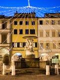 Farinata Degli Uberti square in Empoli, Italy stock photo