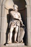 Farinata degli Uberti, statue in the Niches of the Uffizi Colonnade in Florence. Farinata degli Uberti, statue in the Niches of the Uffizi Colonnade. The first royalty free stock photos