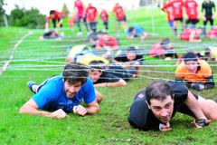 Farinato Race - extreme obstacle race in Gijon, Spain. Stock Images