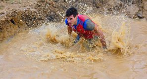 Farinato Race - extreme obstacle race in Gijon, Spain. Stock Photos