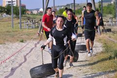 Farinato Race - extreme obstacle race in Leon, Spain. Royalty Free Stock Images