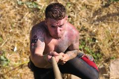 Farinato Race - extreme obstacle race in Leon, Spain. Stock Photos