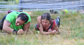 Farinato Race - extreme obstacle race in Leon, Spain. Stock Photography