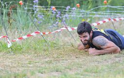 Farinato Race - extreme obstacle race in Leon, Spain. Royalty Free Stock Photography