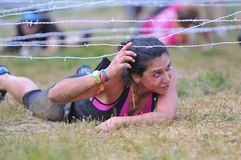 Farinato Race - extreme obstacle race in Leon, Spain. Stock Image