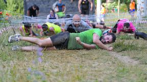 Farinato Race - extreme obstacle race in Leon, Spain. Royalty Free Stock Photos