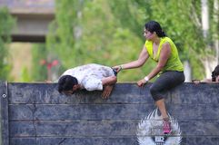 Farinato Race - extreme obstacle race in Leon, Spain. Royalty Free Stock Photo
