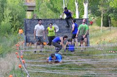 Farinato Race - extreme obstacle race in Leon, Spain. Royalty Free Stock Image