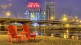 Farine cinq roses à Montréal Photos libres de droits