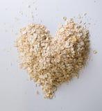 Farine d'avoine bonne pour votre concept de coeur Photographie stock