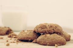 Farine d'avoine de biscuit fabriquée à la main Photo libre de droits