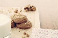 Farine d'avoine de biscuit fabriquée à la main Image libre de droits