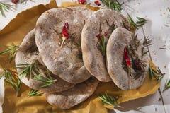 Farine de farine de blé entier de focacce Images stock