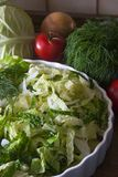 Farine de légumes secs Photo stock