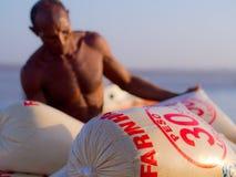 Farine de manioc Photo stock