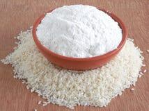 Farine de riz Photographie stock libre de droits
