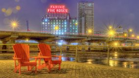 Farine fünf Rosen in Montreal Lizenzfreie Stockfotos
