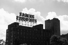 Farine Five Roses & clouds royalty free stock photo