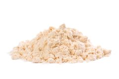 Farine organique de noix de coco Images stock