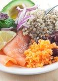 Farine saumonée et de légumes secs images libres de droits