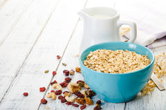 Farinha de aveia e leite Imagem de Stock Royalty Free