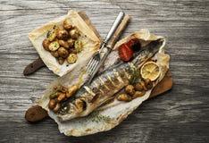Farinha de peixes Fotografia de Stock