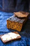Farinha de Rye e pão do malte fotos de stock royalty free