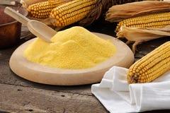 Farinha do milho com ajuste fotos de stock royalty free