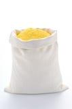 Farinha do milho no saco imagem de stock royalty free