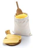 Farinha do milho no saco imagens de stock