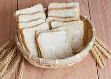 Farinha do trigo, do pão e de trigo Fotos de Stock Royalty Free