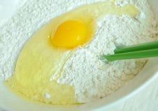 Farinha e ovo Fotos de Stock