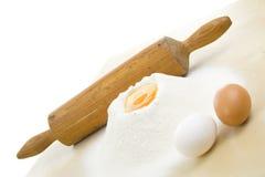 Farinha e ovos Foto de Stock Royalty Free