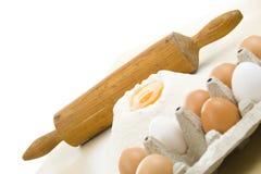Farinha e ovos Imagem de Stock Royalty Free