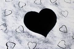 Farinha nos corações Imagem de Stock