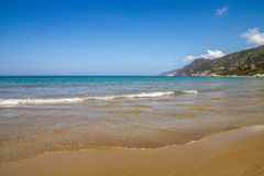 Farinole beach on Cap Corse in Corsica Stock Image