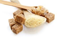 Farinsand och raffinerat socker Arkivbild
