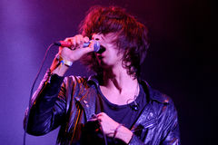 Faris Badwan, singer of The Horrors Stock Photo